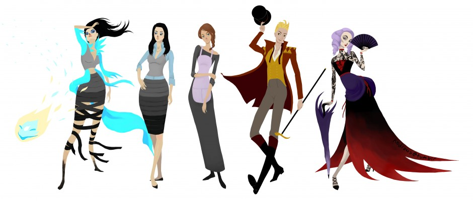 Character Design – Whole Cast