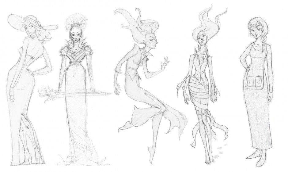 Sophie and The Witch Sketches