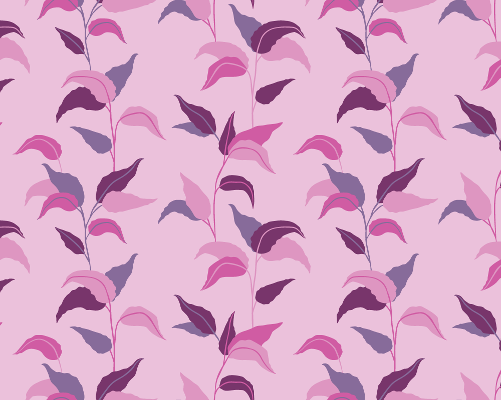 Pink Leaves Wallpaper